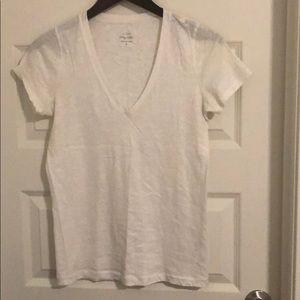 Vintage cotton V-neck T-shirt Metallic